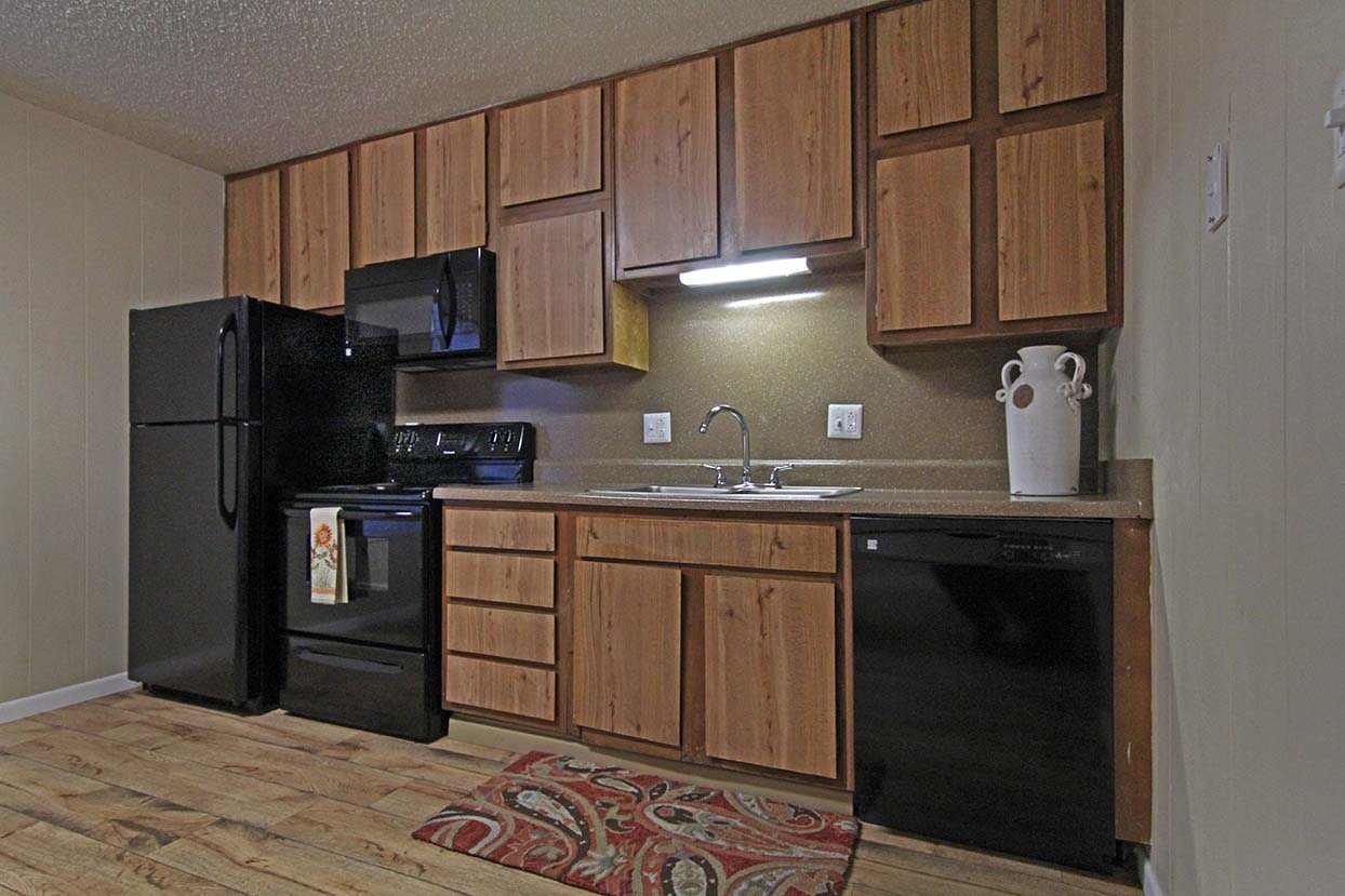 Kitchen Sink and Appliances at Brookside Apartments in TX, 76643